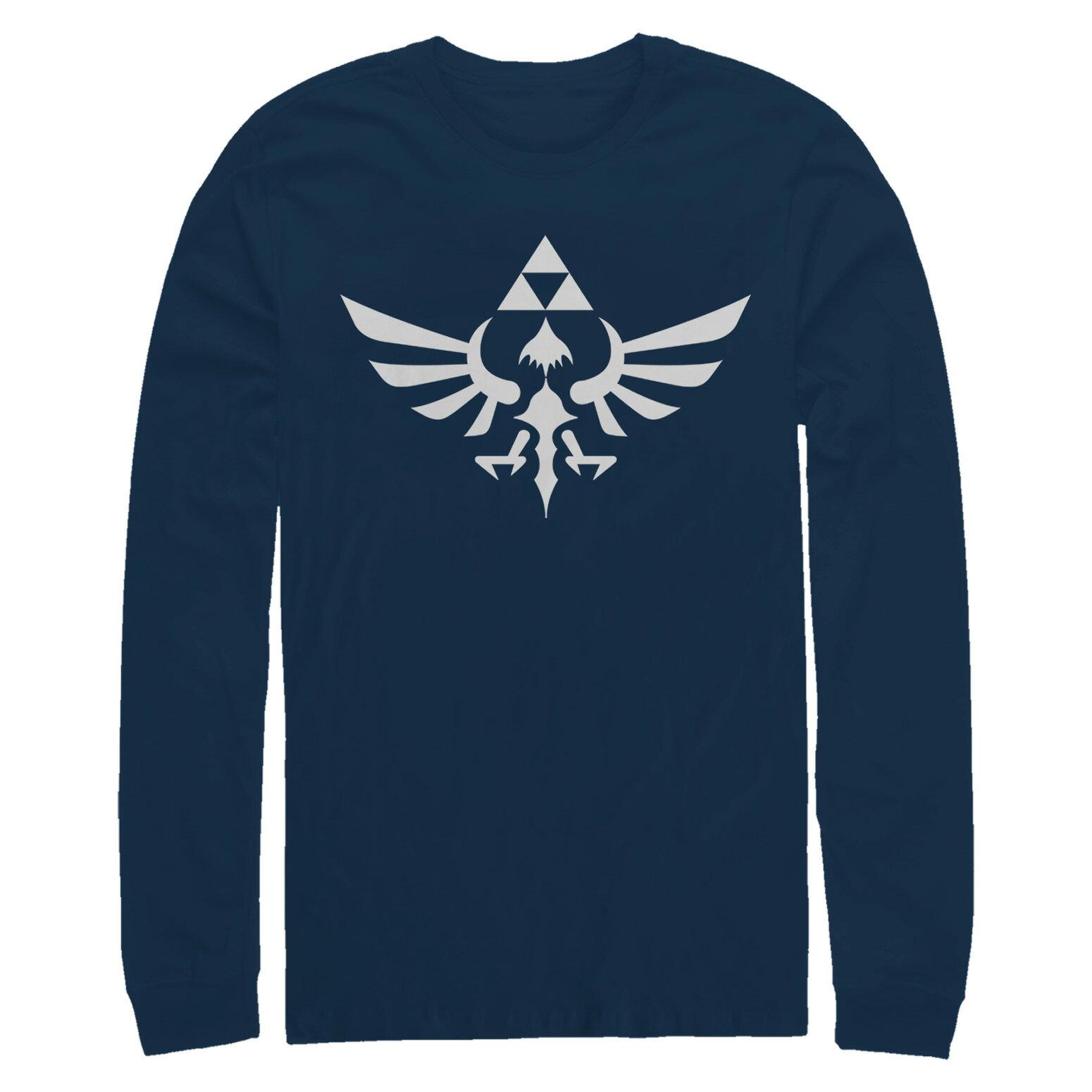022f031a8 FifthSun: Nintendo Legend of Zelda Triforce Mens Graphic Long Sleeve ...