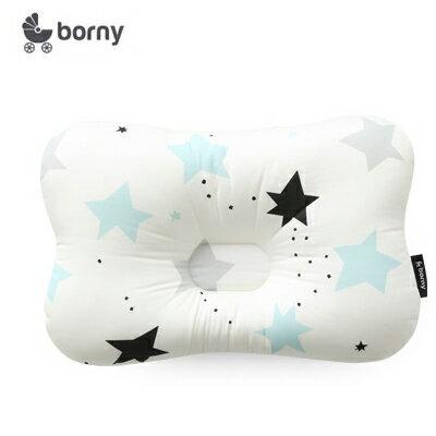 【安琪兒】韓國【 Borny 】 3D透氣蜂巢塑型嬰兒枕(0~6個月適用) (藍流星)