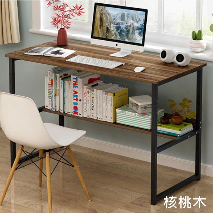 簡約現代書桌100CM(免運) 電腦桌 辦公桌 書桌 書架【AL130】◎123便利屋◎