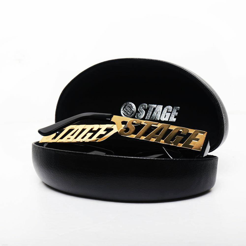 【國光幫幫忙】、【型男穿搭】STAGE LOGO SUNGLASSES 金色/黑色 兩色 2