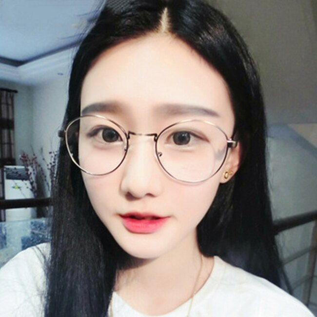 50%OFF【J020082GLS】韓版新款圓形金屬復古眼鏡框學生平光鏡近視男女框架鏡開球