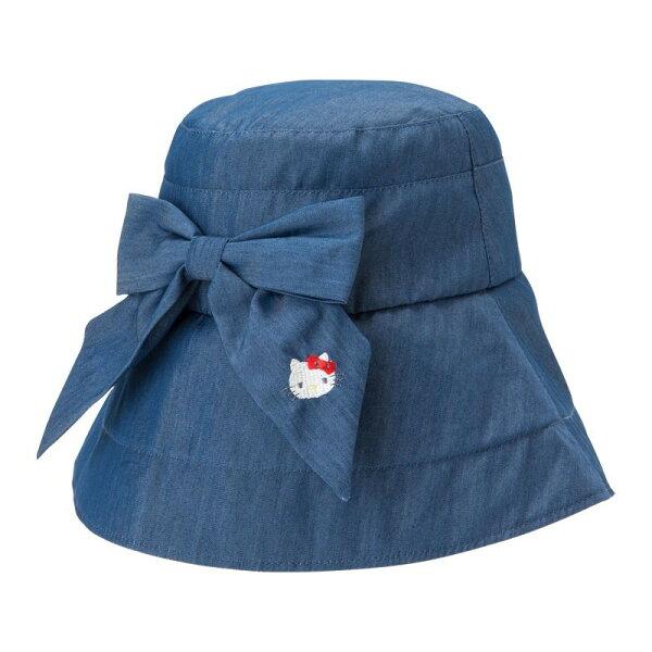 X射線【C803547】HelloKitty可折遮陽帽-藍,毛帽漁夫帽棒球帽鴨舌帽造型帽頭巾遮陽防曬