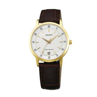 ORIENT 東方錶/優雅數字藍寶石鏡面石英女皮帶錶/FUNG6003W
