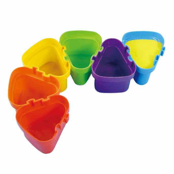 【華森葳兒童教玩具】美育教具系列-連結顏料盒 L1-RE/2066/CP
