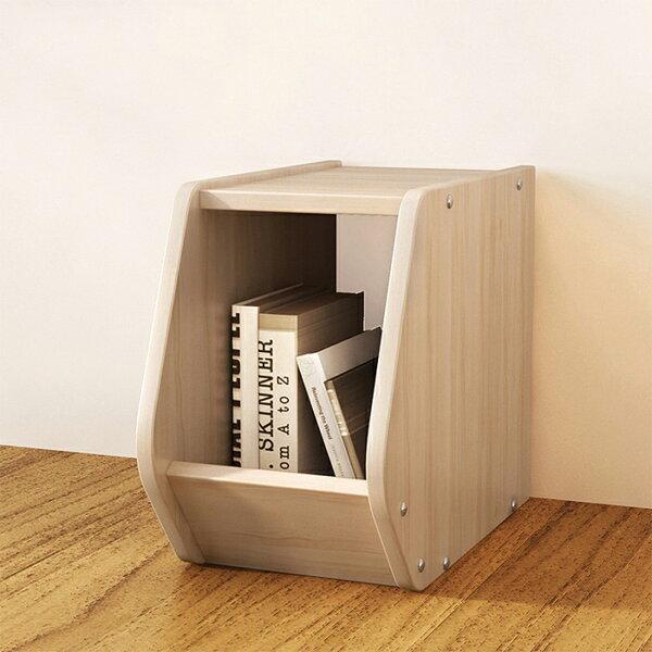 組合櫃A款無門收納櫃書櫃書架展示置物櫃床頭櫃【YV9714】HappyLife