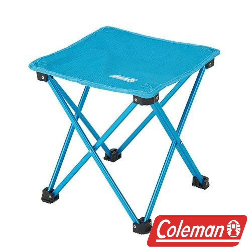 【美國Coleman】輕便摺疊凳/藍 折凳 低座小椅 戶外野餐椅 摺疊椅 休閒椅 童軍椅 CM-21983