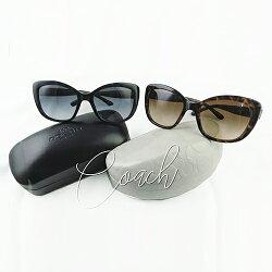 COACH L1639 L1640 素面/琥珀膠框馬車LOGO 抗UV墨鏡 太陽眼鏡