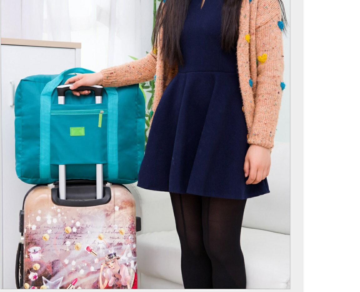 新一代 折疊式 加大 加厚 口袋多 行李袋 旅行袋 收納包 可插行李拉桿 飛機包 拉桿包 登機包