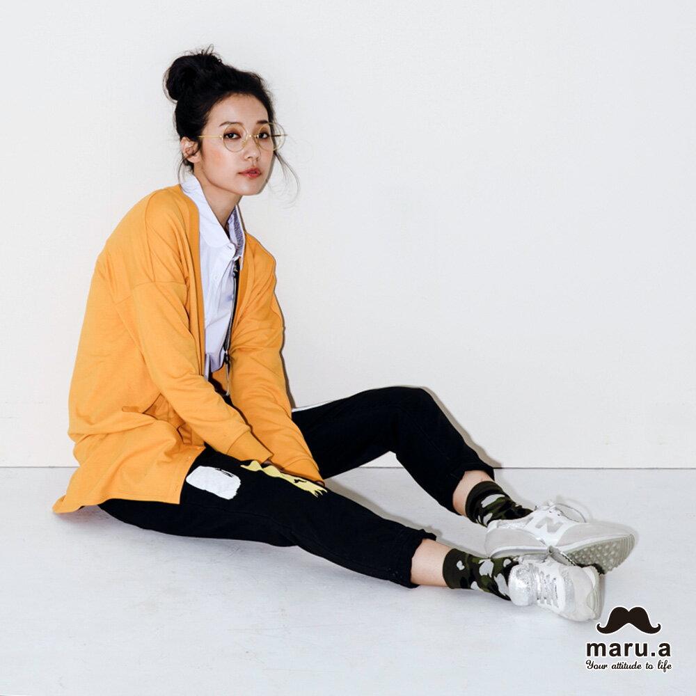 【maru.a】大V領寬鬆舒適開襟外套(2色)7921111 1