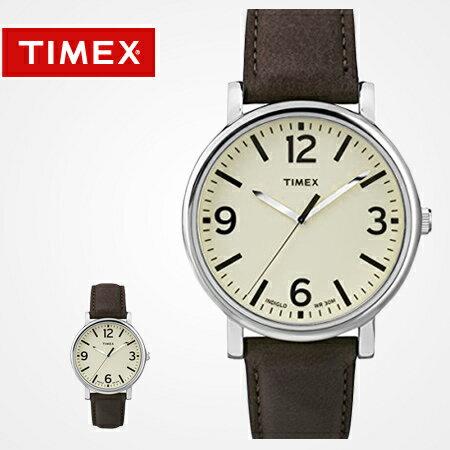 TIMEX天美時腕錶 INDIGLO冷光 經典款數字簡約刻度皮革手錶 柒彩年代【NE1634】原廠公司貨 0