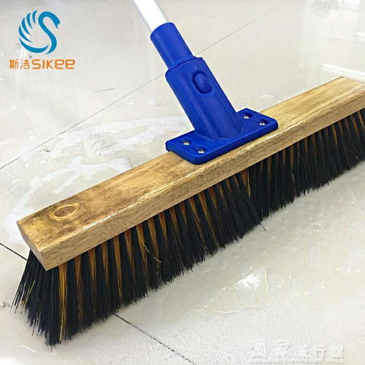 清潔刷長柄硬毛地刷清潔刷大號廚房衛生間浴室地板瓷磚刷子家用清潔工具YJT 【快速出貨】
