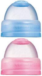 KUKU 酷咕鴨寬口雙色瓶蓋(粉/藍)【寶貝樂園】