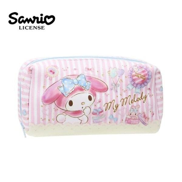 【日本正版】美樂蒂防震筆袋鉛筆盒化妝包收納包MyMelody三麗鷗Sanrio-465865