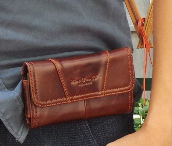 真皮手機包~復古蠟油皮橫式手機套 手拿 腰包 皮夾 長夾 手機袋 掛包 收納包 真皮包 ^
