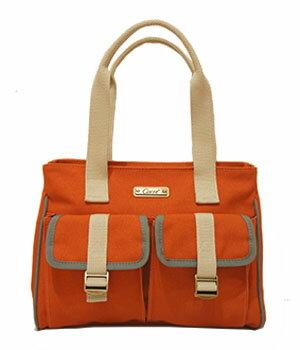 CORRE【CP802】復古帆布肩背包 馬卡龍綠/紅/藍/橘 3