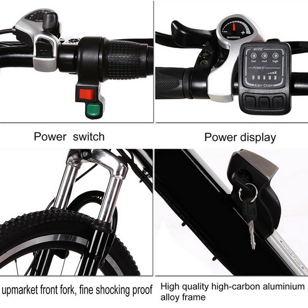 Ancheer 25 inch Wheel Aluminum Alloy Frame Mountain Bike Cycling Bicycle Black 5