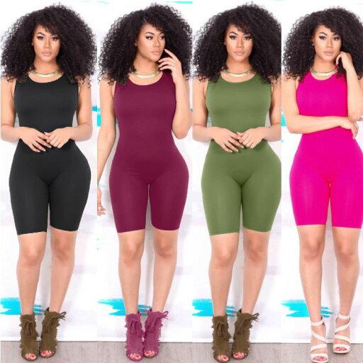 Sexy Women Casual Sleeveless Bodycon Romper Jumpsuit Club Bodysuit Short Pants 47fe3a55e92c3f0545d3c00ba15043a8