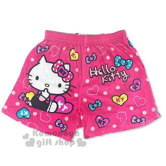 〔小禮堂〕Hello Kitty 家居平口褲《桃.側坐.咬手指.愛心.蝴蝶結.M-XL》