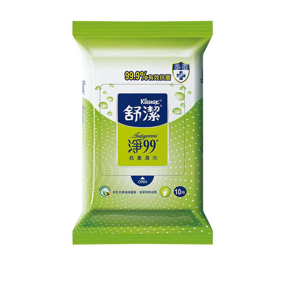 舒潔淨99抗菌濕巾(10抽/4包/15組/箱)