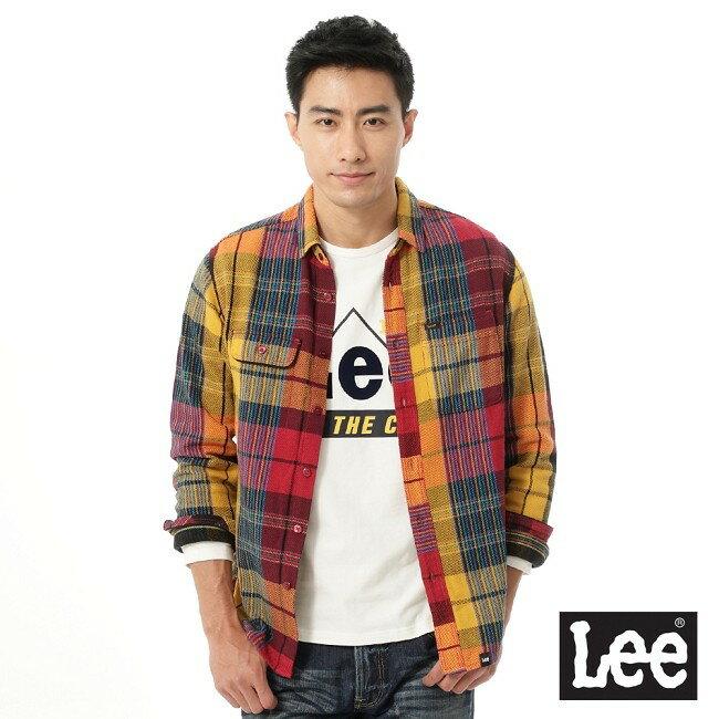 Lee 拼色長袖襯衫 0