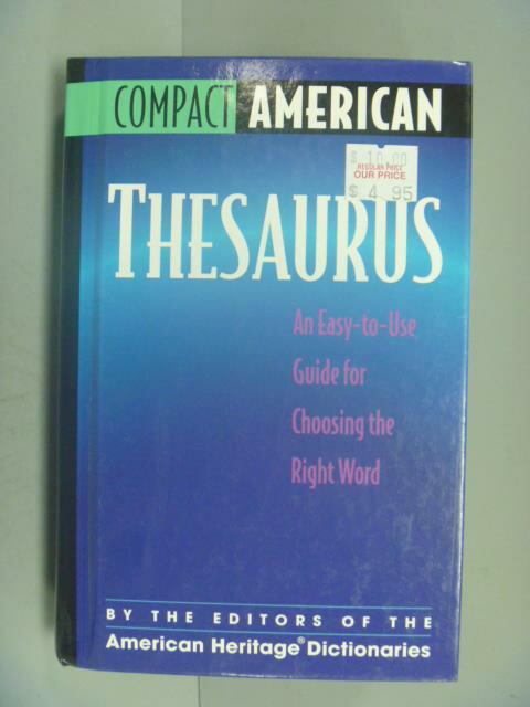 ~書寶 書T5/字典_IKK~Compact American Thesaurus_Ame