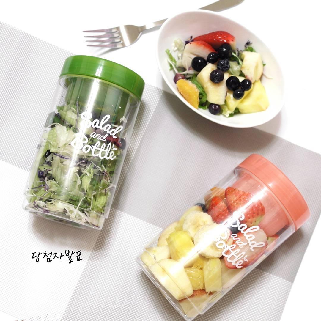 【韓國製造】自帶醬格沙拉罐  保鮮盒 大容量 野餐 露營