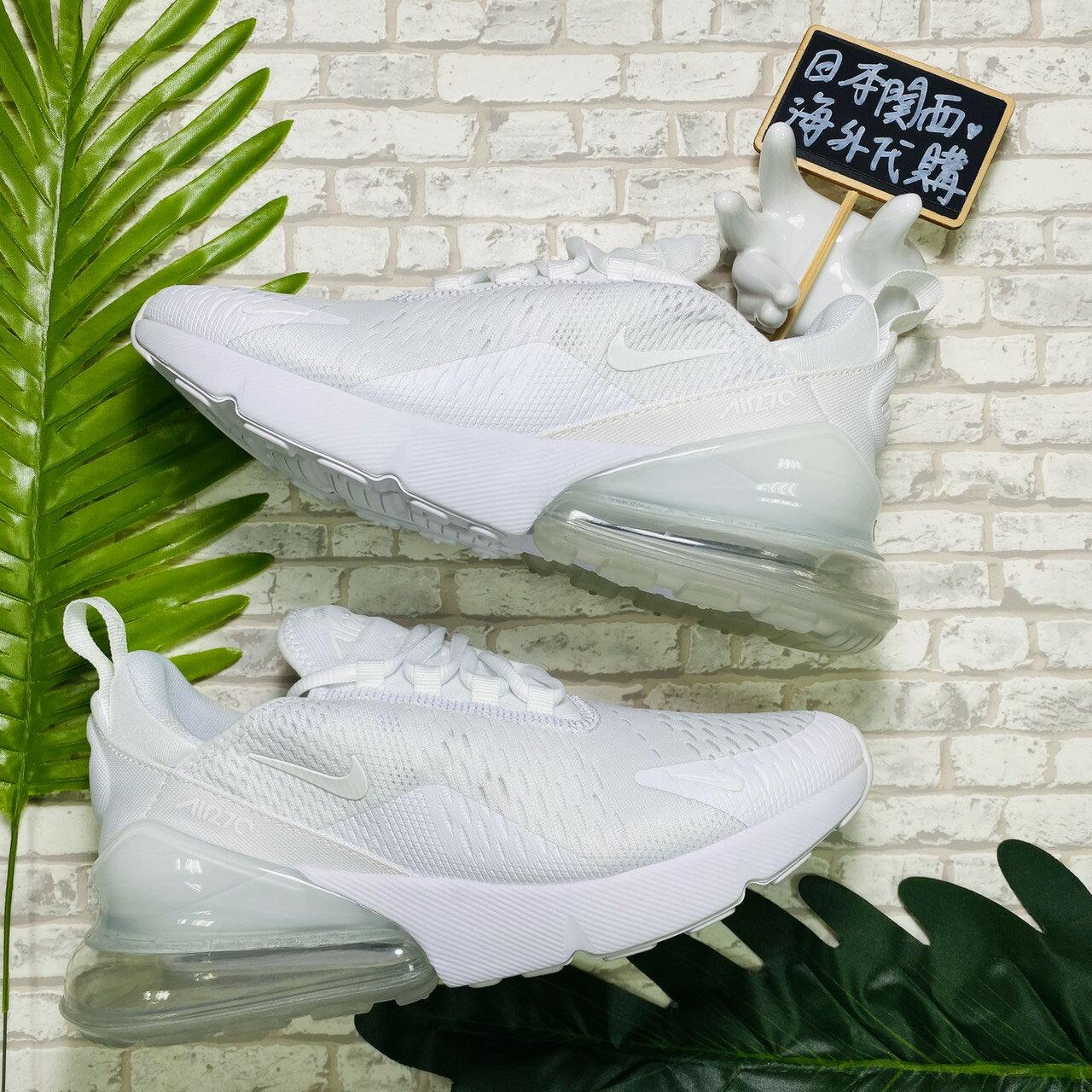 【日本海外代購】Nike Air Max 270 全白 氣墊 網面透氣 白色 白勾 冰藍 男女 AH8050101