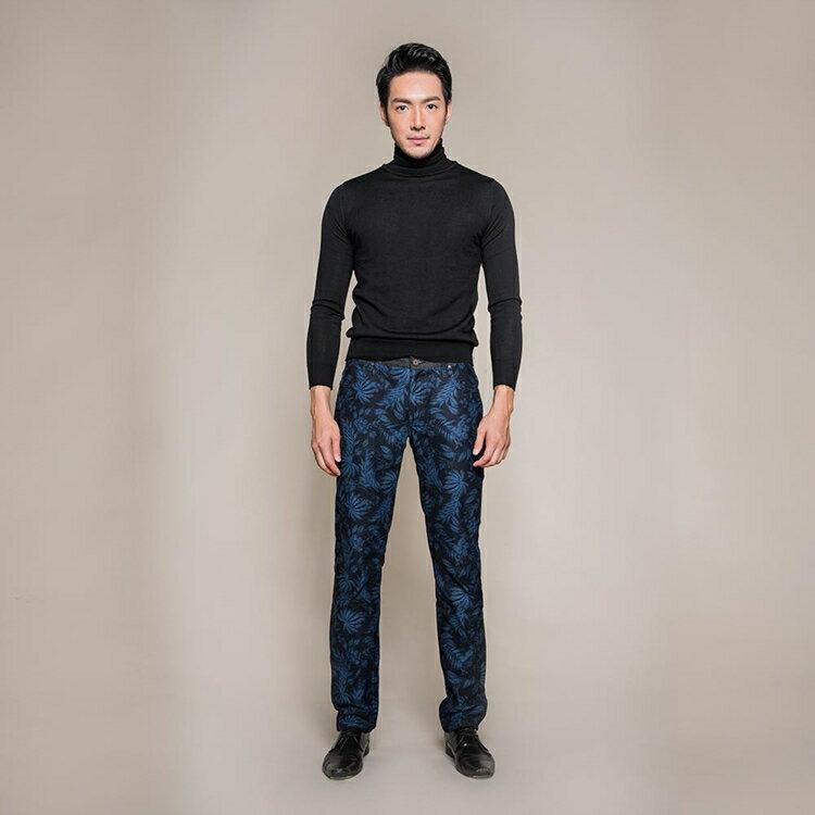 機能保暖暗藍花紋修身九口袋休閒長褲 TOKYO CLASSIC NIGHT FLOWER 9 POCKETS (SlimFit) 0