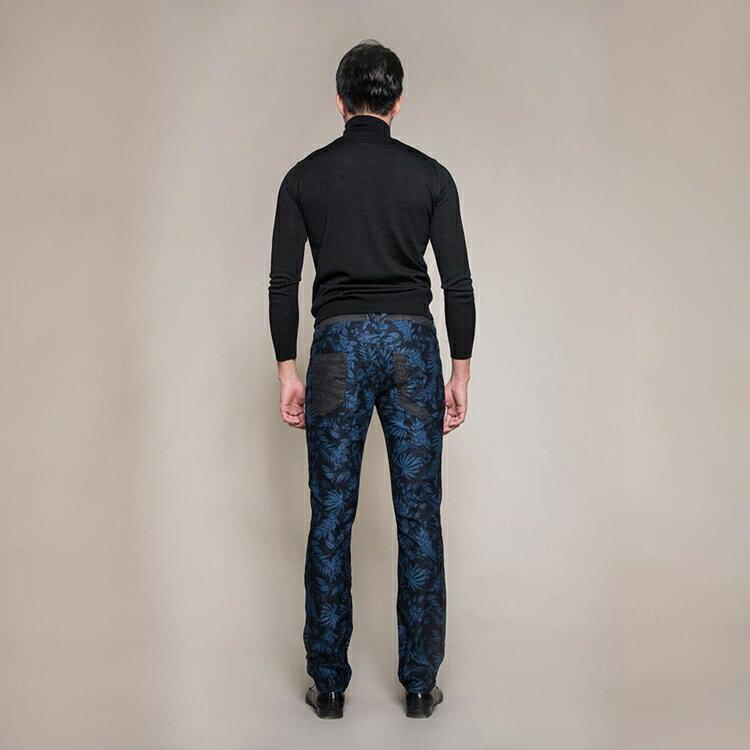 機能保暖暗藍花紋修身九口袋休閒長褲 TOKYO CLASSIC NIGHT FLOWER 9 POCKETS (SlimFit) 1