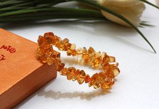 黃水晶手鏈水晶手鏈隨意款 橘黃水晶隨意手鏈