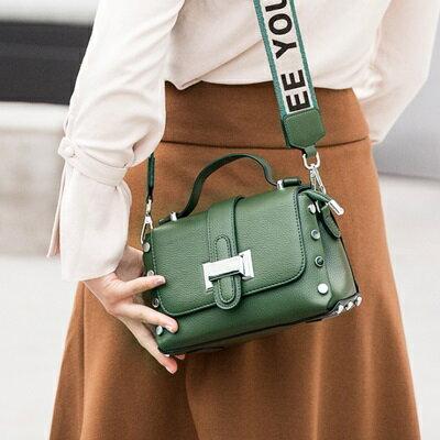 肩背包鉚釘側背包-韓版時尚大方摩登女包包2色73sb8【獨家進口】【米蘭精品】