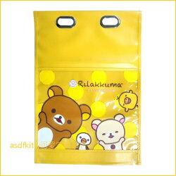 asdfkitty可愛家☆日本san-x 拉拉熊車用椅背收納袋/置物袋/雜誌袋-日本正版商品