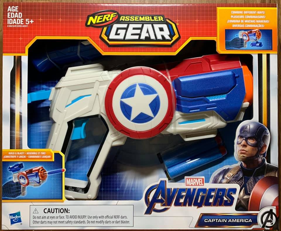 ☆勳寶玩具舖【現貨】漫威 Marvel NERF槍 復仇者聯盟4 無限組裝武器組--美國隊長 Captain America