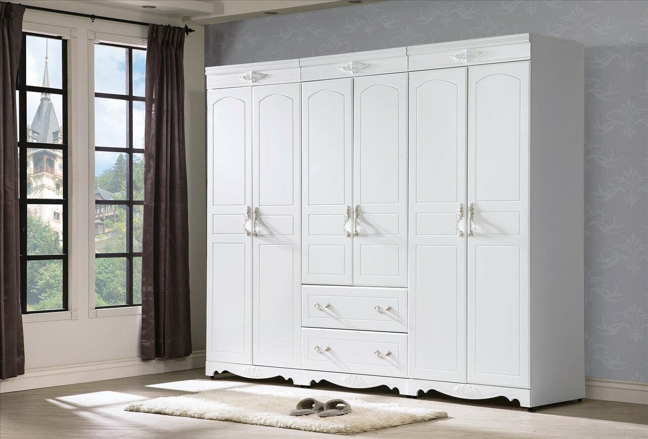 ~石川家居~CE~18~03 溫妮莎歐風2.7尺二抽衣櫥  不含   需 車趟