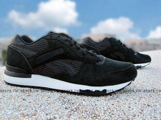 Shoestw【AQ9847】Reebok GL6000 PT復古慢跑 黑色 呼吸 麂皮 Classic 男生