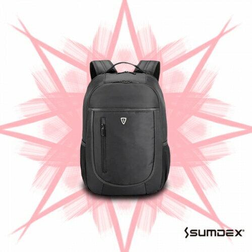 ~加賀皮件~ SUMDEX 男士後背包 紳士 防盜 通勤 款 商務 電腦包 背包~PON~