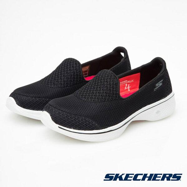 SKECHERS 女款 Go Walk 4 健走鞋14170 BKW / 城市綠洲 (美國品牌、輕量、避震、運動休閒鞋)