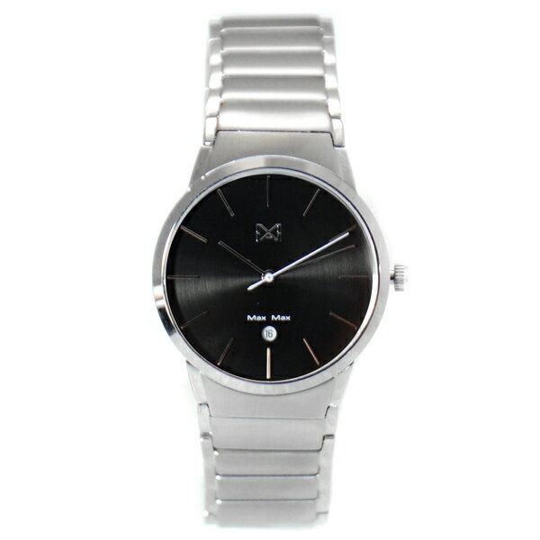 MaxMaxMAS7023-2簡約時尚鋼帶腕錶-黑32mm
