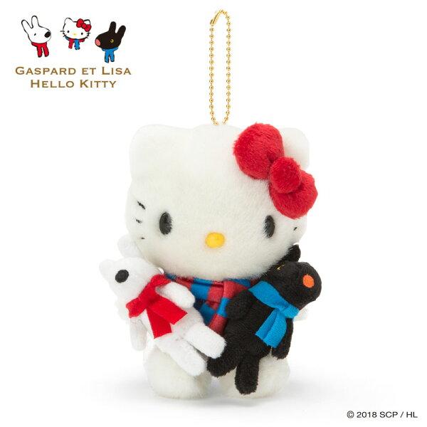 【真愛日本】18051200003聯名珠鍊吊娃-KTxLG加ACNN麗莎卡斯柏kitty吊飾娃娃收藏