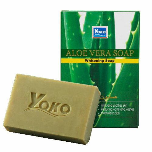 sightme看過來購物城 【 YOKO 】優菓 蘆薈 抗痘 煥白皂 肥皂 香皂 100g 保濕 美白 原裝進口 - 004433