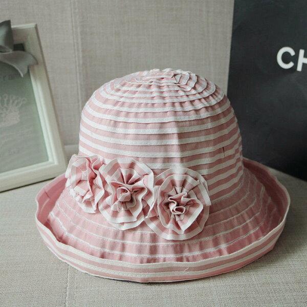 麻吉小舖:夏純棉可折疊大沿帽太陽帽遮陽帽女士防曬漁夫帽女防風繩