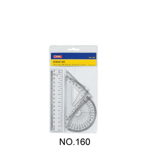 【三燕 COX 三角板組】160塑膠15cm尺組/三角尺/量角器(三角板/直尺/半圓)