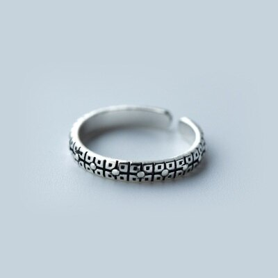 ~925純銀戒指開口戒~復古圓點花紋 生日情人節 女飾品73dt382~ ~~米蘭 ~
