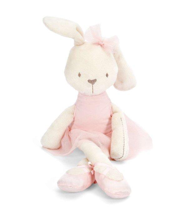 =優生活=英國mamas&papas可愛療鬱系列芭蕾舞睡眠兔子 安撫兔毛?玩偶 女孩禮物 新生兒禮物 54公分