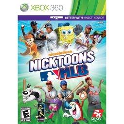 XBOX 360 海綿寶寶與派大星之尼克卡通MLB美國職棒大聯盟 Nicktoons MLB(相容Kinect) -英文美版-