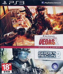 PS3 虹彩六號:拉斯維加斯1+2完整版+火線獵殺:先進戰士2+縱橫諜海4:雙面間諜 4合一合輯 Rainbowsix:Vegas 1+2 + Advanced Warfighter 2+Splinter Cell:Double Agent -英文版-