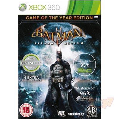 XBOX 360 Batman蝙蝠俠:阿卡漢療養院小丑大逃亡 年度紀念完整特別版-英文版-