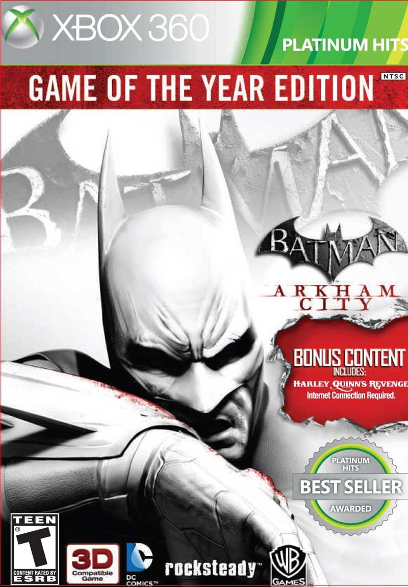 XBOX 360 Batman蝙蝠俠:阿卡漢城市年度完整版-英日文白金美版-