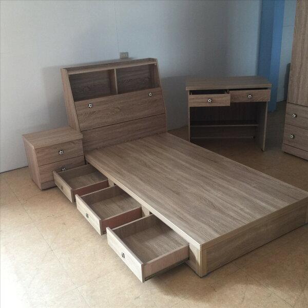 【石川家居】GH-580-A原切橡木單人收納六件床組(不含其他商品)台中以北搭配車趟免運費