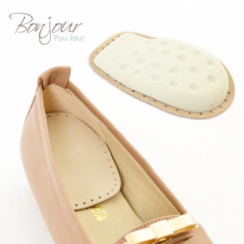 BONJOUR~MIT舒適8mm真皮後跟墊^~久站^~ ^(高跟鞋  包鞋  平底鞋  靴